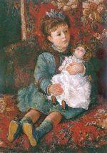 Клод Моне Портрет Жермены Хосхеде с куклой 1877г