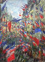 Клод Моне Рю Монтаргей с флагами 1878г