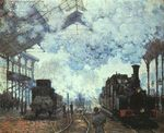 Клод Моне Вокзал Сен-Лазар 1877г Fogg Art Museum, Cambridge, Massachusetts, USA