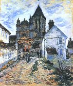 Клод Моне Ветёй, церковь 1878г