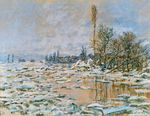 Клод Моне Вскрытие льда, Лаванкур, пасмурная погода 1880г