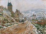 Клод Моне Дорога в Ветёе зимой 1879г