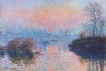 Клод Моне Закат на Сене в Лавакуре, зимний эффект 1880г