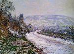 Клод Моне На подходе к деревне Ветёй, зима 1879г