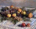 Клод Моне Натюрморт с грушами и виноградом 1880г