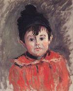 Клод Моне Портрет Мишеля в шапочке с помпоном 1880г