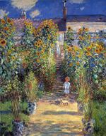 Клод Моне Сад художника в Ветёе 1880г