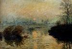 Клод Моне Садящееся солнце над Сеной в Лавакуре. Зимний эффект 1880г