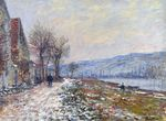 Клод Моне Сена в Лавакуре, эффект снега 1879г