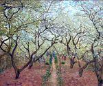 Клод Моне Фруковый сад в цвету 1879г