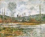 Клод Моне Ветёй, заливные луга 1881г