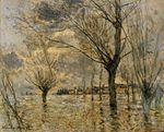 Клод Моне Ветёй, паводок 1881г