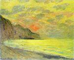 Клод Моне Закат, туманная погода, Пурвиль 1882г
