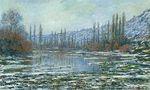 Клод Моне Оттепель в Ветёе 1881г