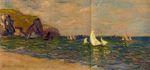 Клод Моне Парусники в море, Пурвиль 1882г