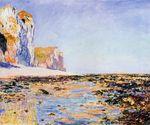 Клод Моне Побережье и скалы в Пурвиле, утренний эффект 1882г