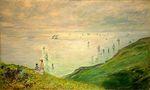 Клод Моне Прогулка по скалам Пурвиля 1882г