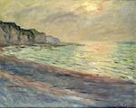 Клод Моне Пурвиль, закат 1882г