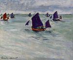 Клод Моне Рыбацкие лодки Пурвиля 1882г