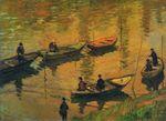 Клод Моне Рыболовы на Сене в Пуасси 1882г