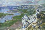 Клод Моне Сена, вид с высот Шантемеля 1881г
