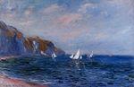 Клод Моне Скала и парусники близ Пурвиля 1882г 81х55cm