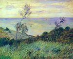 Клод Моне Скалы в Варанжвиле, порыв ветра 1882г