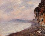 Клод Моне Скалы в Пурвиле, туман 1882г