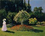 Жанна-Маргарита Лекадр в саду 1866
