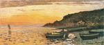Морское побережье в Сент-Адрес, закат 1864