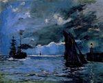 Морской пейзаж, ночной эффект 1866
