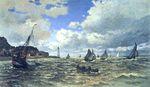 Устье Сены в Онфлёре 1865