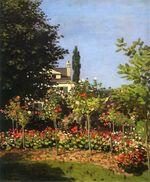 Цветущий сад в Сен-Адрес 1866