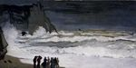 Клод Моне - Бурное море в Этрета. 1869г 131х66 cm