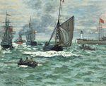 Клод Моне Вход в порт Онфлёра. 1870г
