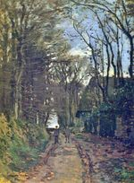 Клод Моне Дорога в Нормандии. 1868г