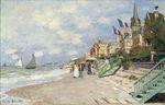 Дощатый настил на побережье в Трувиле. 1870г