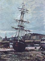 Лодка на отмели в Фекаме. 1868г