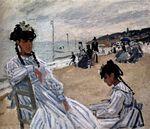 Клод Моне На пляже в Трувиле. 1871
