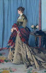Клод Моне Портрет мадам Годибер. 1868г
