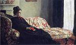 Клод Моне Размышление. Мадам Моне на диване. 1871г