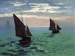 Клод Моне Рыбацкие лодки в море. 1868г