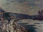 Клод Моне Сена в Бугивале. 1869г