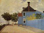 Клод Моне Синий дом в Заандаме. 1871г.