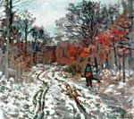 Клод Моне Тропинка в лесу. Эффект снега. 1870г