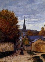 Клод Моне Улица в Сент-Адрес. 1867г