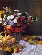 Клод Моне Цветы и фрукты . 1869г