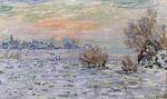 Клод Моне Зима на Сене, Лавакур 1880г
