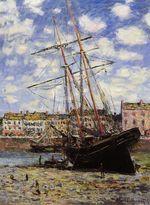 Клод Моне Лодка во время отлива в Фекаме 1881г