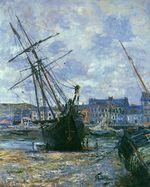 Клод Моне Лодки во время отлива в Фекаме 1881г